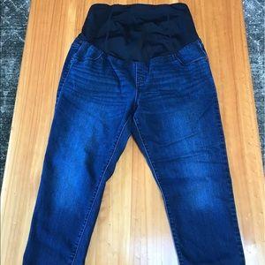 Dark wash maternity skinny jeans. Size 14